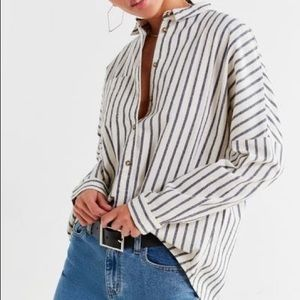 Relaxed Fit Button Down Shirt